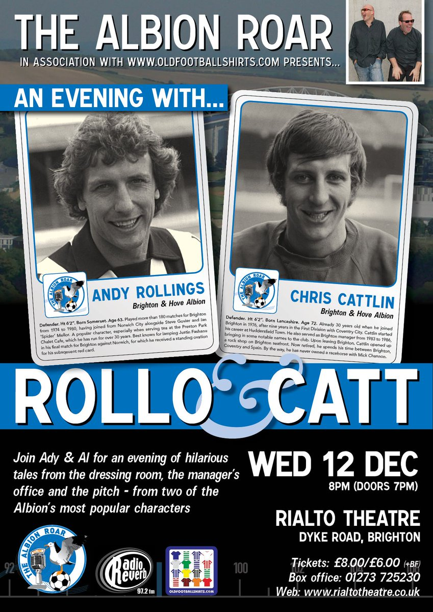 A great #BHAFC evening in store tonight with the @albionroar chaps. Get yourself along to it!  https://cgul.co/2UEg8Jg