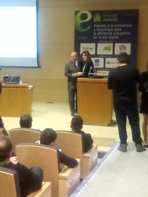 @enerTIC_es nos premia por el proyecto por la #TransformacionDigital de los JJOO con el...