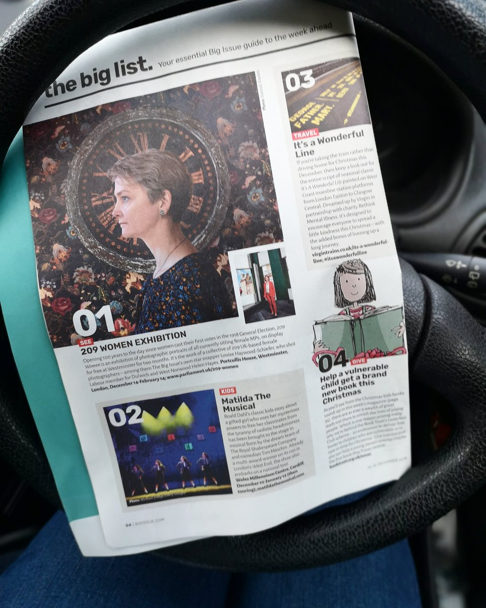 Whoop! @209women top of the essential guide of what to do this week in @thebigissue #girlpower #womeninpolitics #womeninphotography #celebratingwomen