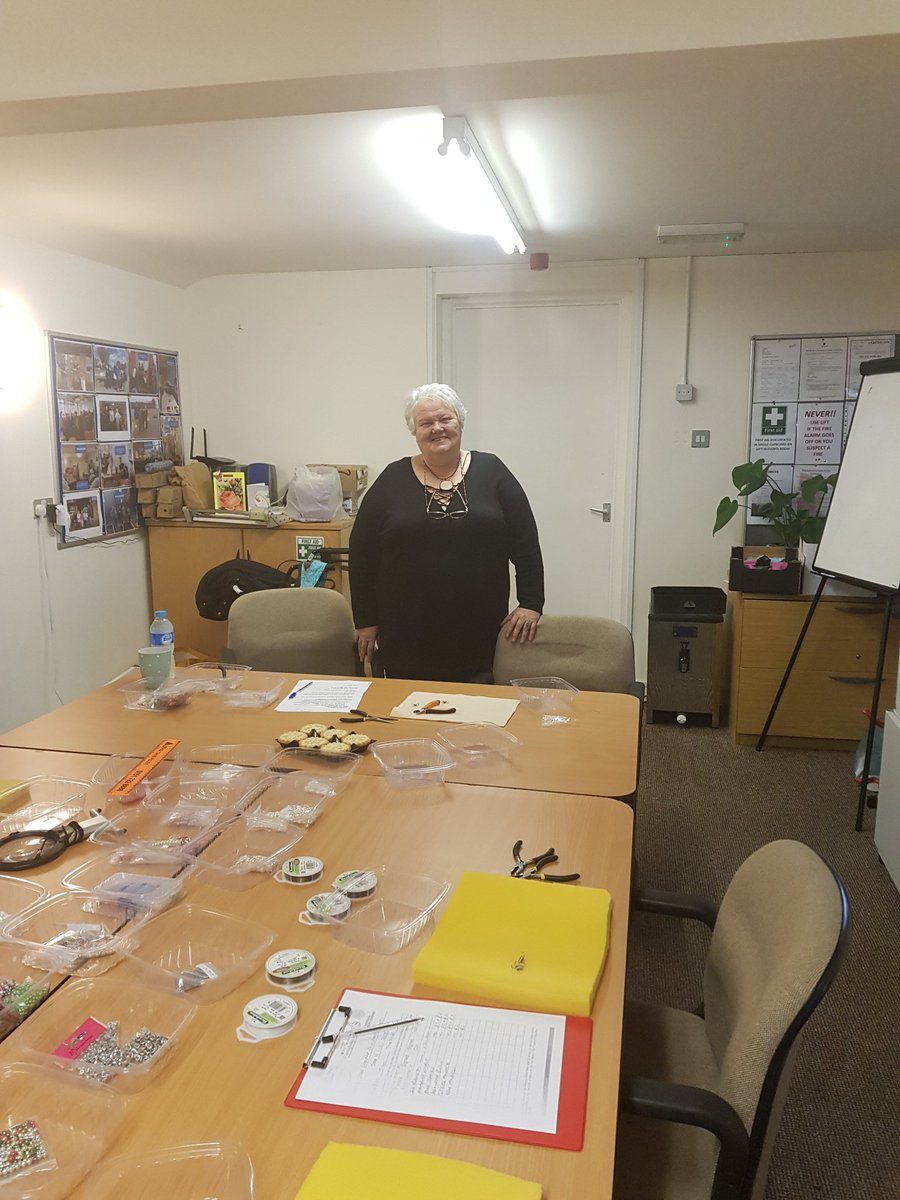 @HOPLiverpool funded us for a project with the theme of ownership we used the money for craft classes run by Sue (WMA member) and Ray (volunteer). HOP visited to see Sue deliver a session on jewellery making. We thank HOP for their continued support to Wheel Meet Again.