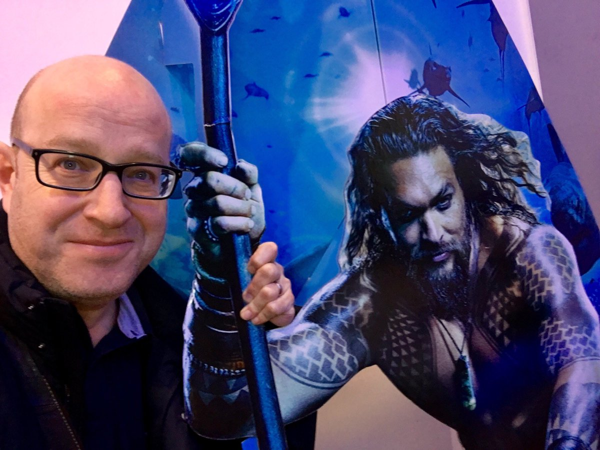 Since @WarnerBrosUK werent keen to show #Aquaman to the press, here I am at the ODEON BFI IMAX's first public screening, excited to dive into Arthurs deep sea adventures, in 3D, on the biggest screen in Britain! Is it better though, down where its wetter? Review to follow!