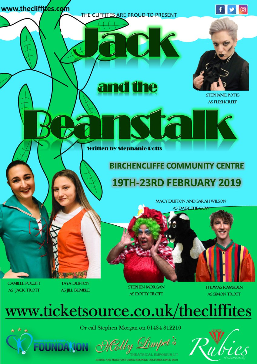 📣 The #htafc Foundation are proud to be supporting @TheCliffites Jack and the Beanstalk production through our Go For It Grant scheme.   You can buy your tickets now! 👇