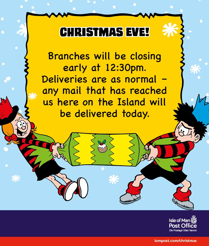 Post Office Hours Christmas Eve.Isle Of Man Post Office On Twitter Christmas Eve