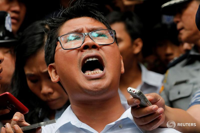 It's been one year since @Reuters journalists Wa Lone and Kyaw Soe Oo were arrested in Myanmar, in a landmark case that's sparked international outcry from human rights activists https://reut.rs/2EoIzWJ