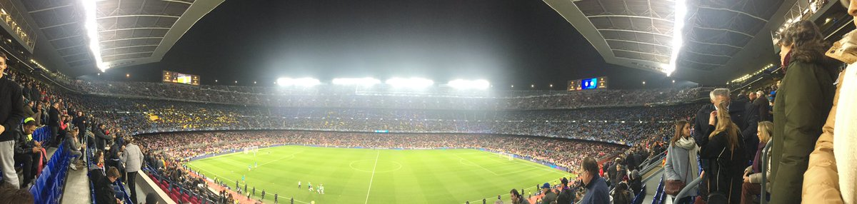 @SpursOfficial @GolfingSwingers back from a magical night Camp Nou - never out of the game and could have won it! #COYS #championsleague last 16