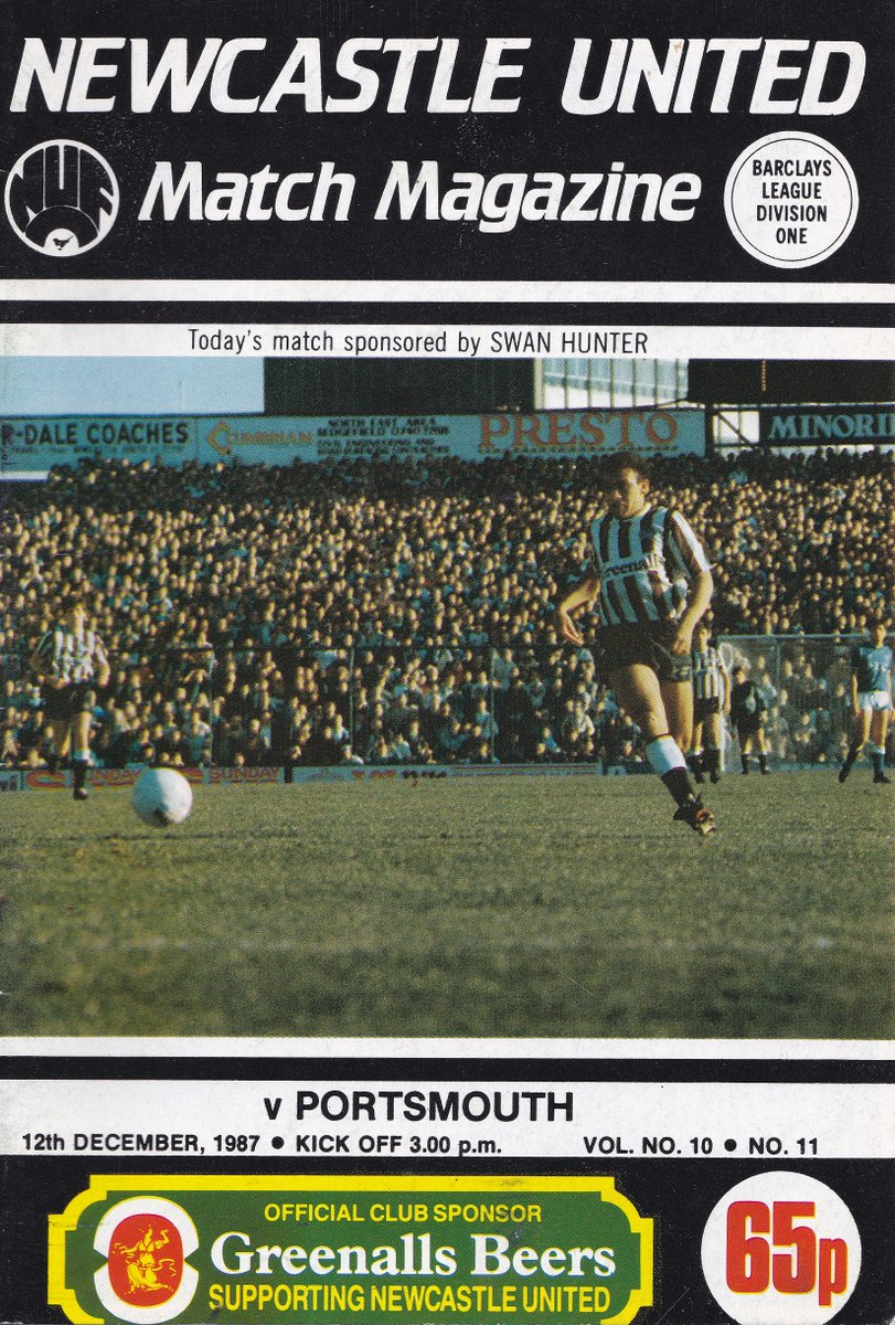on this day in 1987... newcastle united 1 portsmouth 1 (d1) att 20,255... paul hardyman scoring for pompey, mirandinha equalising... peter jackson & kevin dillon sent off following a 'disagreement', & gazza discussing his future in the programme...  #nufc  https://www.flickr.com/photos/62002240@N02/albums/72157639647683866…