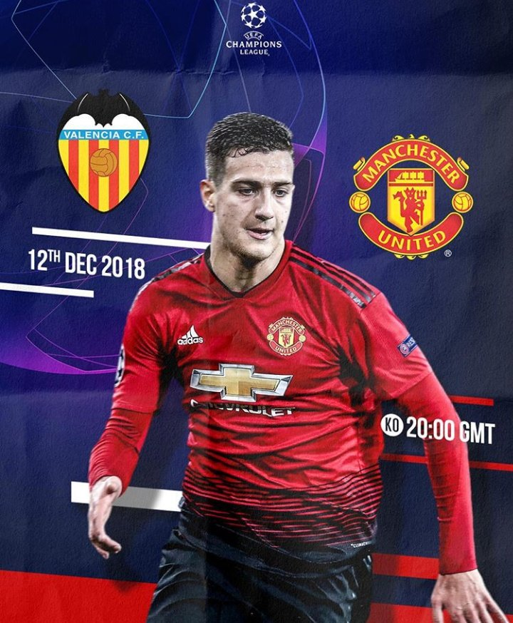 My team @ManUtd returns on the feild tonight vs @valenciacf_en . Come on boys 💪. #WeAreUnited #GGMU #UCL