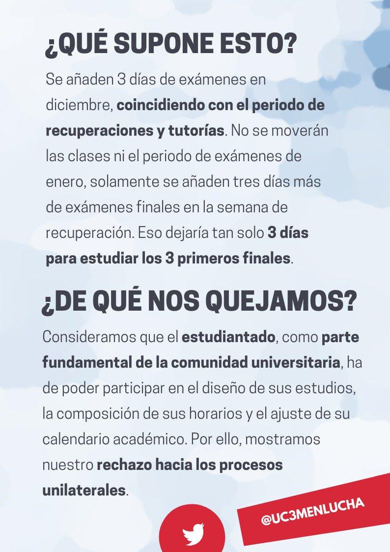 Calendario Uc3m.Estudiantes Uc3m En Lucha Uc3menlucha Twitter