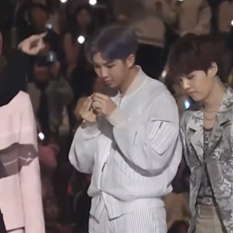 bts: *receiving an award Joon: —hold on lemme get this mf dirt outta my nail