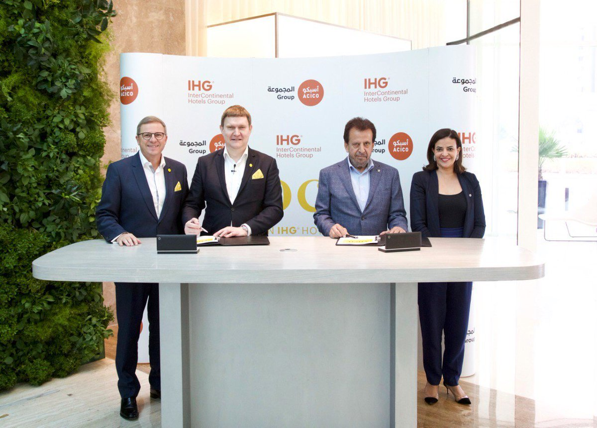 Last week marked a milestone for IHG as we signed an HMA with ACICO Gulf Real Estate to debut voco, our new upscale hotel brand, in ME. voco Dubai, a reliably different hotel offering, is expected to open in March 2019. https://t.co/uNi3rxFd5A . #vocodxb https://t.co/n5GrlsFbft