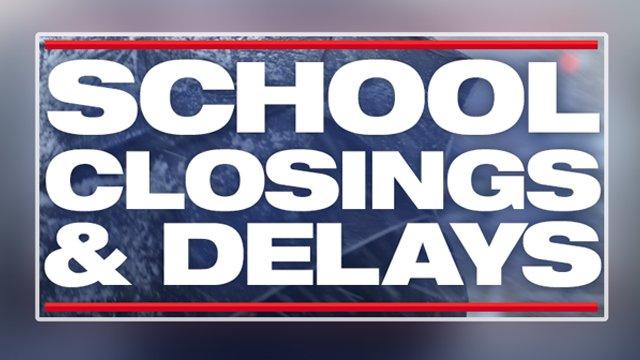 SCHOOL CLOSINGS & DELAYS:  https://t.co/lBhOqs7rRq #fox5weather
