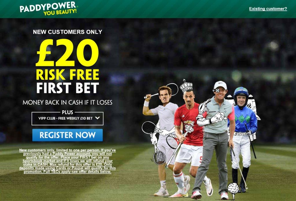 #riskfree £20 #bet > http://bit.ly/PADDYpower #sportsbook acca  #winning #sport #rugby #mufc #darts #golf