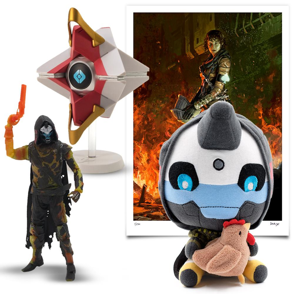Commemorate everyone's favorite Hunter during #GuardianGiveaways.  RETWEET for a chance to win this @BungieStore Cayde-6 Bundle.  💠 https://bungiestore.com/collections/guardian-bundles/products/cayde-6-bundle?utm_source=SOCIAL&utm_medium=Email&utm_campaign=BNG …  📃 https://bungiestore.com/pages/guardian-giveaways-sweepstakes?utm_source=SOCIAL&utm_medium=Email&utm_campaign=BNG …