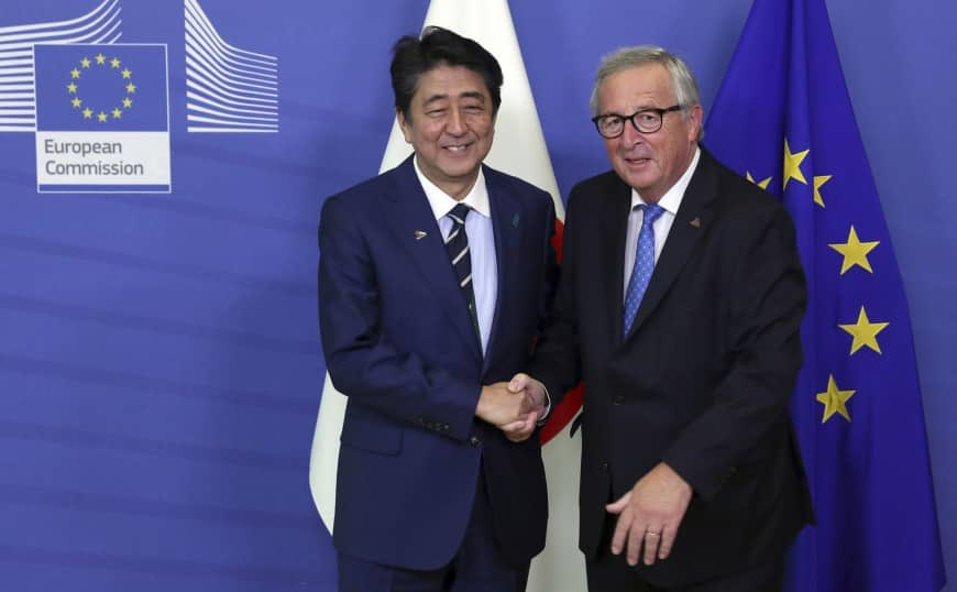With today's @Europarl_EN strong backing for the EU-Japan 🇪🇺 🇯🇵  Economic Partnership  agreement, the biggest trade agreement in the world will enter into force in February 2019. Good for European and Japanese companies and citizens. Good for multilateral rules-based #trade.