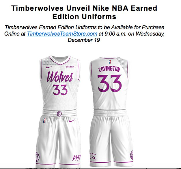Dave Benz On Twitter The Timberwolves Latest Threads Are Out
