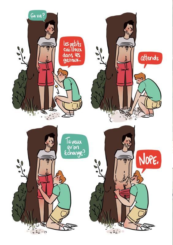 sexe Cartoon sous l'eau CFNM strip-teaseuse pipe
