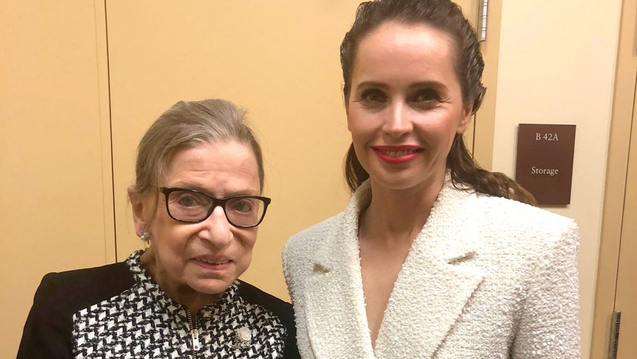 Ruth Bader Ginsburg steals the show at biopic premiere in Washington, D.C.  http:// thr.cm/gDyGcH  &nbsp;   <br>http://pic.twitter.com/BVlPcITrCw