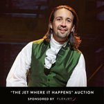 "Flexjet & @charitybuzz present ""The Jet Where It Happens"" auction lot benefitting the Flamboyan Arts Fund. Bid on a Flexjet flight for 4 to Puerto Rico Jan. 27 & 4 VIP tickets for closing night of #Hamilton & cast after party.  https://t.co/rTl1Wfc5mj #FlexjetCharityBuzz"