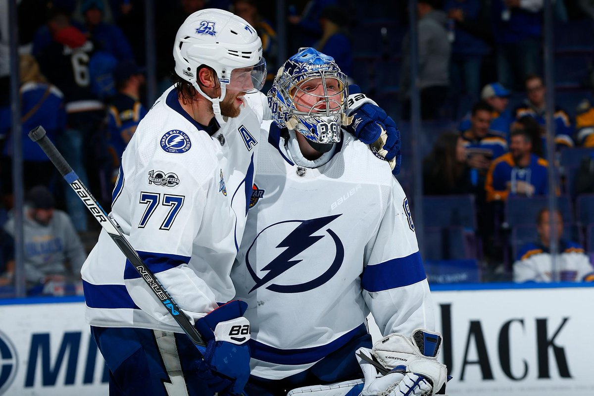 THIS DATE IN 2017: Andrei Vasilevskiy of the @TBLightning became the 6th goalie in NHL history to reach the 20-win mark within his first 25 appearances of a season. #NHLStats More TDIH: atnhl.com/2rxFafu