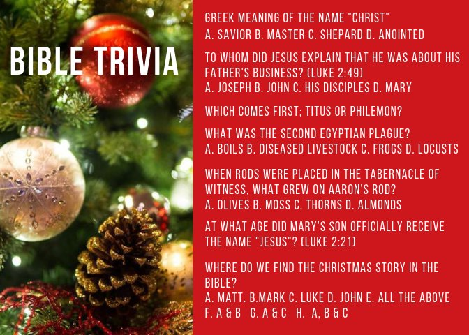 Christmas Bible Trivia.Cview Ministries On Twitter It S Word Up Wednesday We