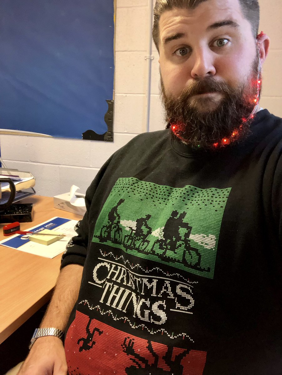 Shout out to my bearded teacher brothers. Anyone repping these Bobby Dazzler lights this year again? #merrybeardmas #xmasjumperday @HeadBeardy @lukeframburton @MrS_Primary @smithsmm @berniewestacott<br>http://pic.twitter.com/bs4QLdgvh3