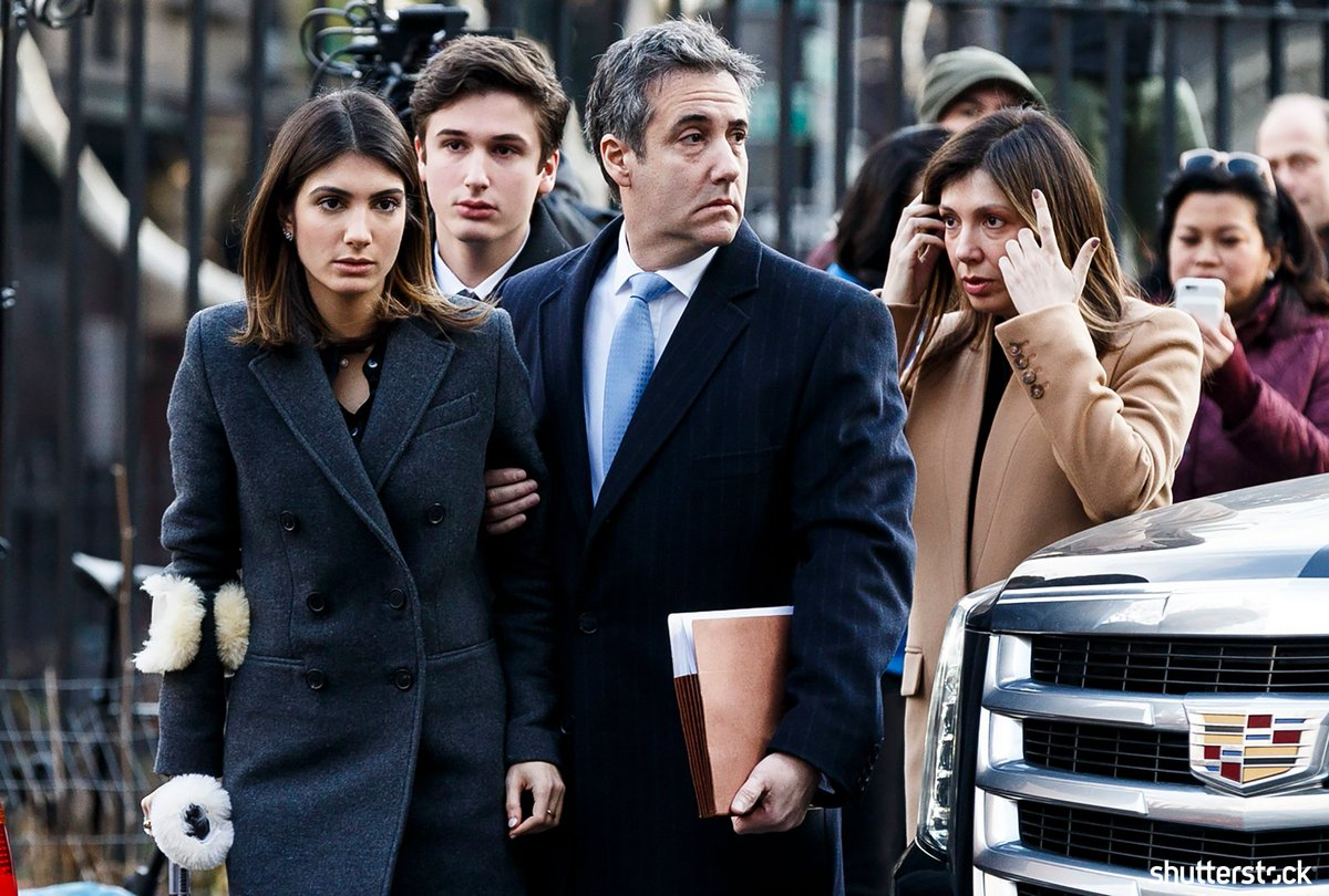 #MichaelCohen, President Trumps former lawyer, arrives with his family for his sentencing hearing in New York + more photos of the day shutr.bz/EditorsPicks | 📸 EPA-EFE/REX/Shutterstock