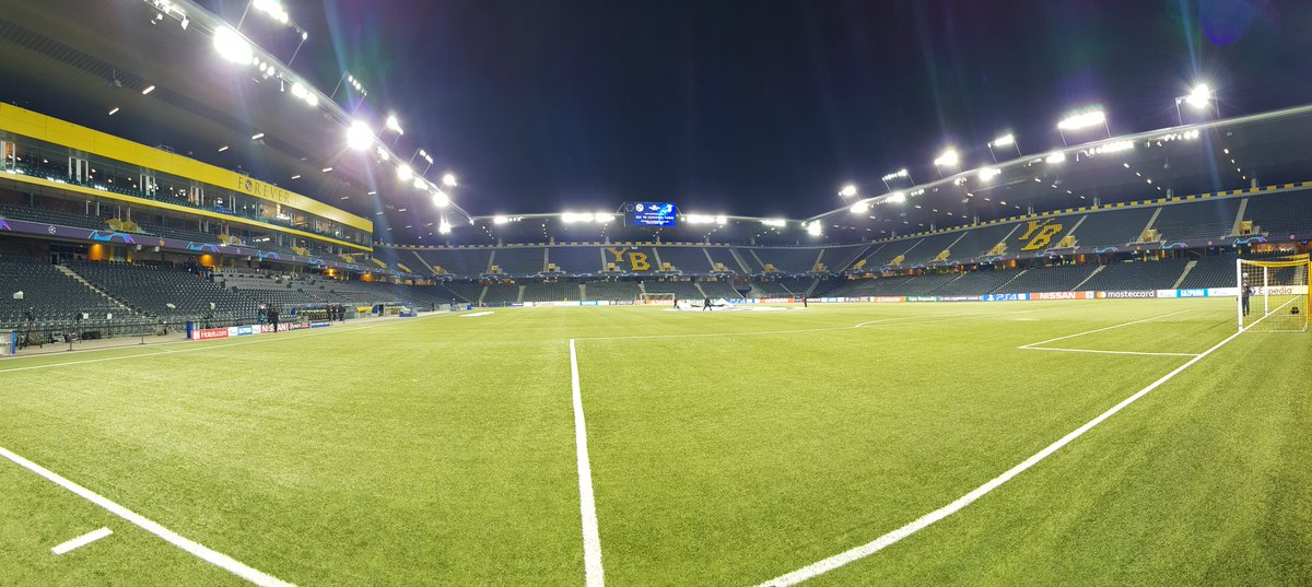 Location: Stade de Suisse 📌  Match: #YBJuve 🏟  Objective: First place 💪  #FinoAllaFine: #ForzaJuve ⚪⚫