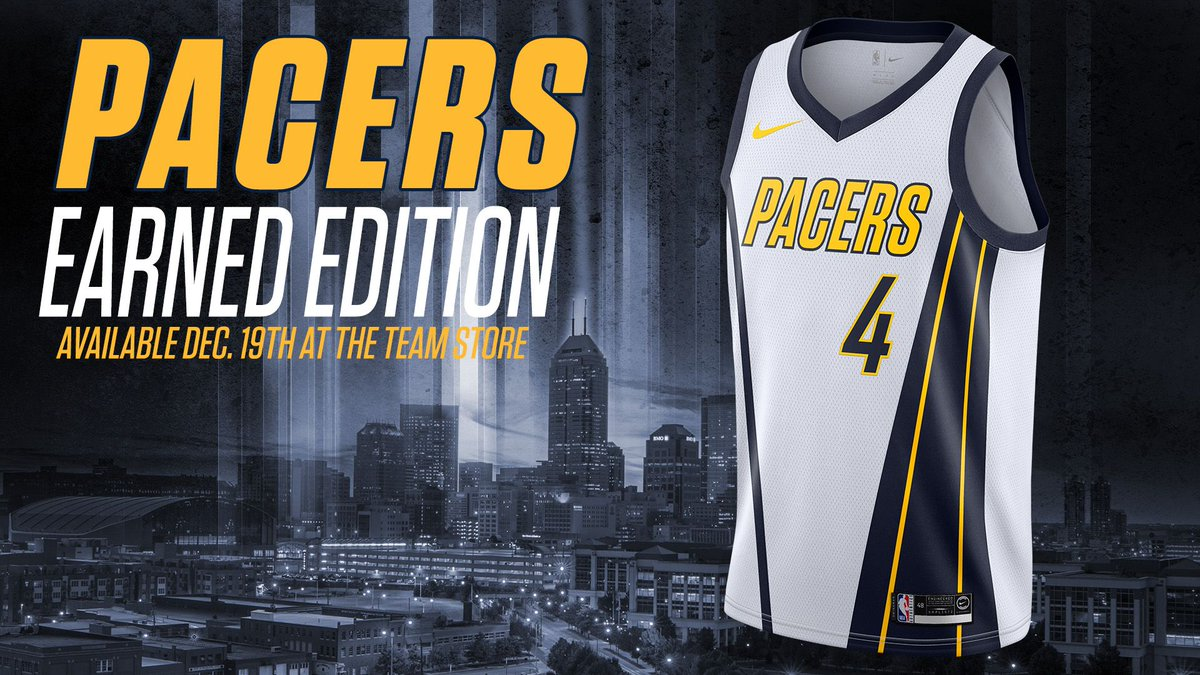 822ef9c23 The  Pacers Earned jerseys will be available for purchase Dec. 19th at the Team  Store and will make their debut on Dec. 28th.pic.twitter.com vVZf5lsnOq