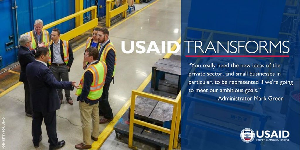 USAID is issuing a bold call-to-action--> We're calling on the private-sector to help us accelerate countries' progress on the Journey to Self-Reliance. Join Us! More in new Private Sector Engagement Policy:      https://t.co/T9Eu1uynPZ#USAIDTransforms#DevJourney#WorkWithUSAID