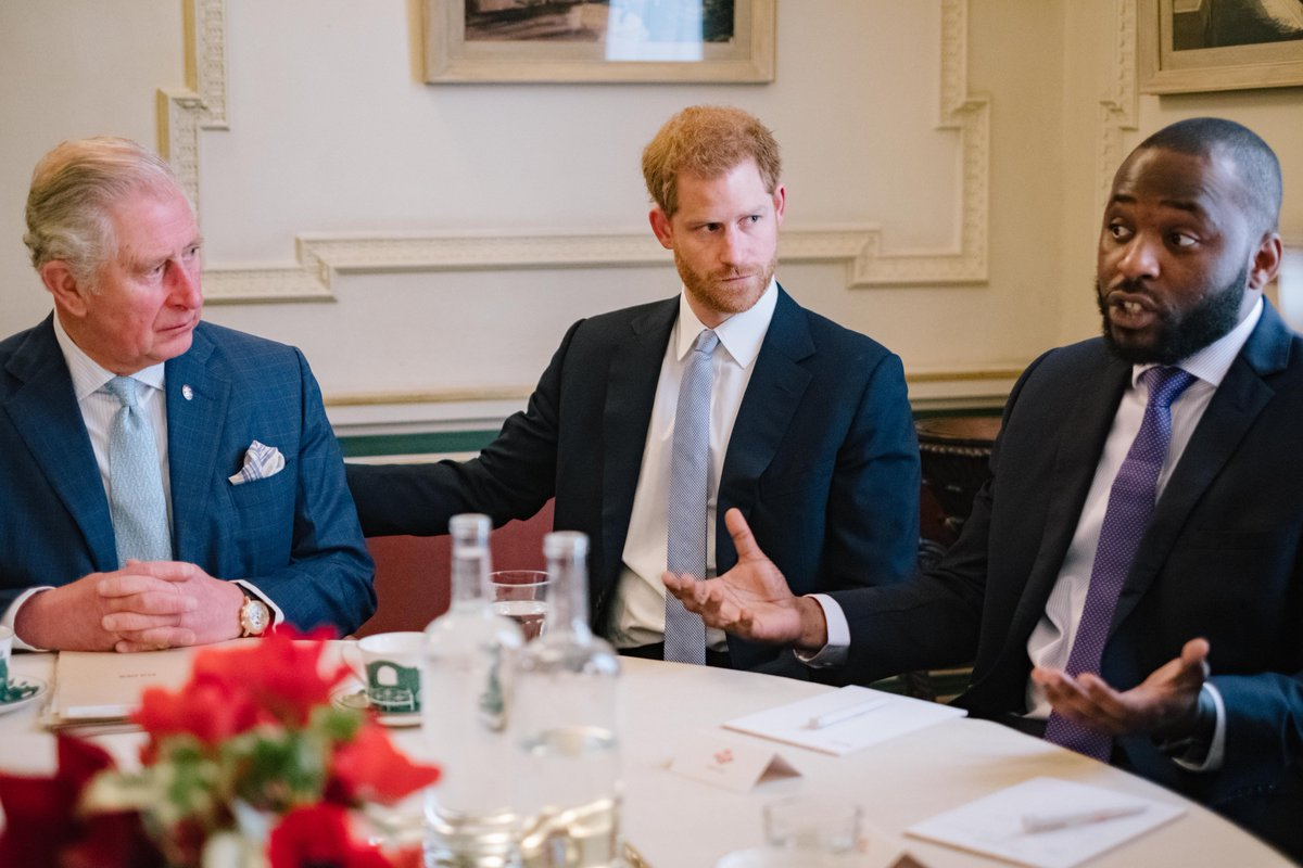 The Duke of Sussex joined his father The Prince of Wales for a discussion about Youth Violent crime and the ways in which it can be reduced, convened by @PrincesTrust.