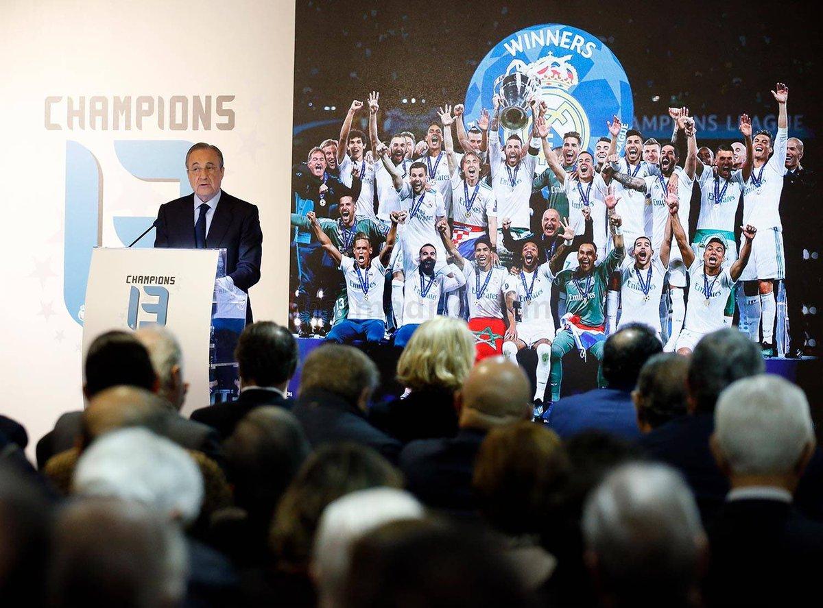 حضر فلورنتينو بيريز حفل تدشين كتاب الثالثة عشرة. قصة تاريخية لا نهاية لها ، والذي قام بتأليفه انريكي اورتيغو وقال فلورنتينو بيريز : في هذه المباراة ، تم جمع كل المشاعر في ليلة أخرى لا تنسى لريال مدريد.