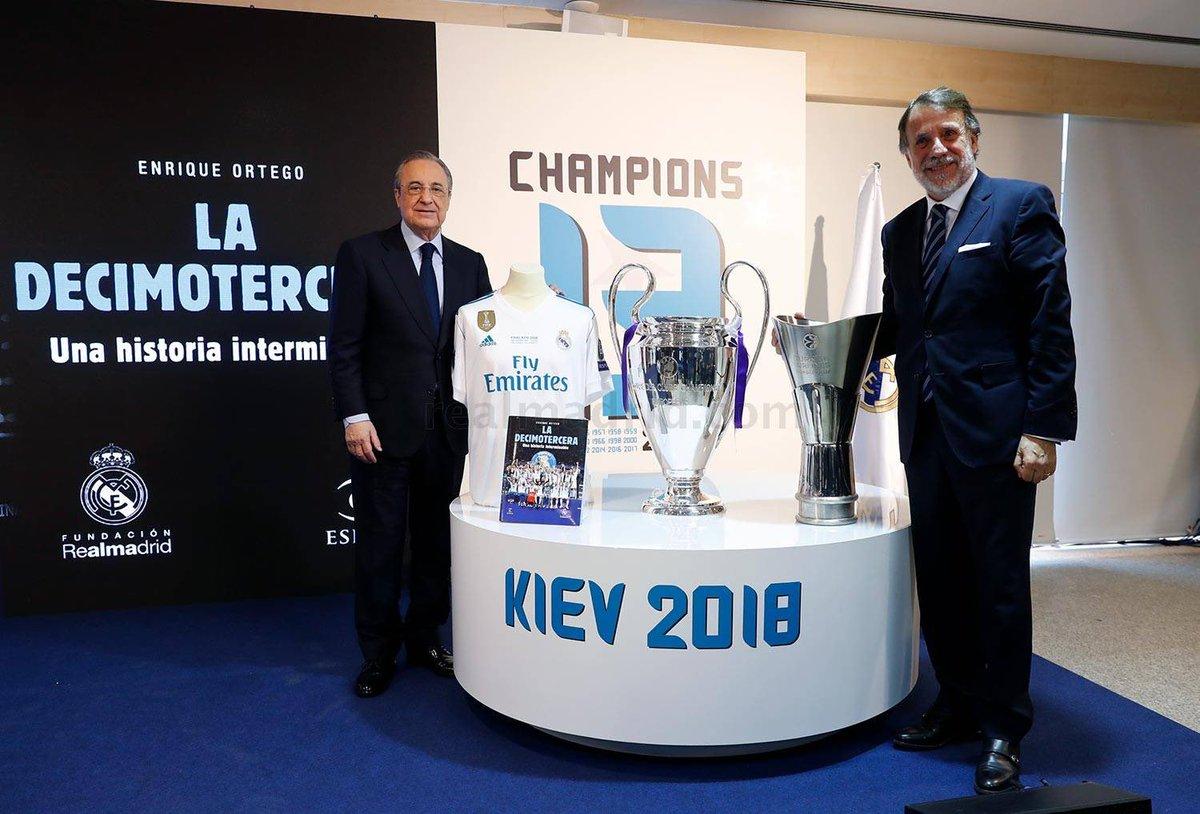 فلورنتينو بيريز : لا يمكن فهم تاريخ ريال مدريد بدون دوري أبطال اوروبا ، بالطريقة نفسها تاريخ دوري ابطال اوروبا لا يفهم من دون ريال مدريد.