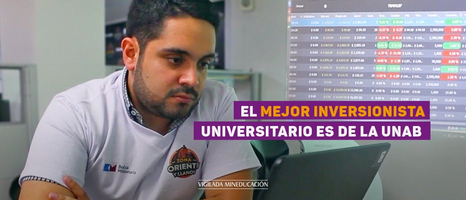 El mejor inversionista universitario es de la UNAB