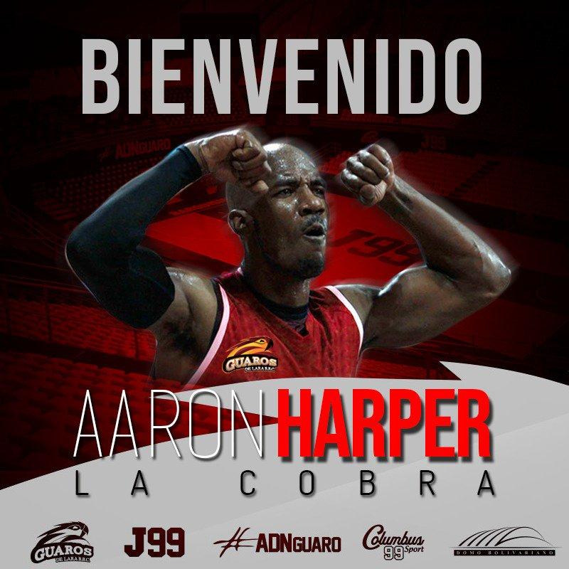 Anuncia nuestro Gerente Deportivo, José David Hernández, la contratación de Aaron Harper, como primer importado a la edición 2019 de Liga de Las Américas. El jugador llegará a Barquisimeto este jueves. . Bienvenido La Cobra 🐍 . #ADNGuaro #LDA #LDA2019
