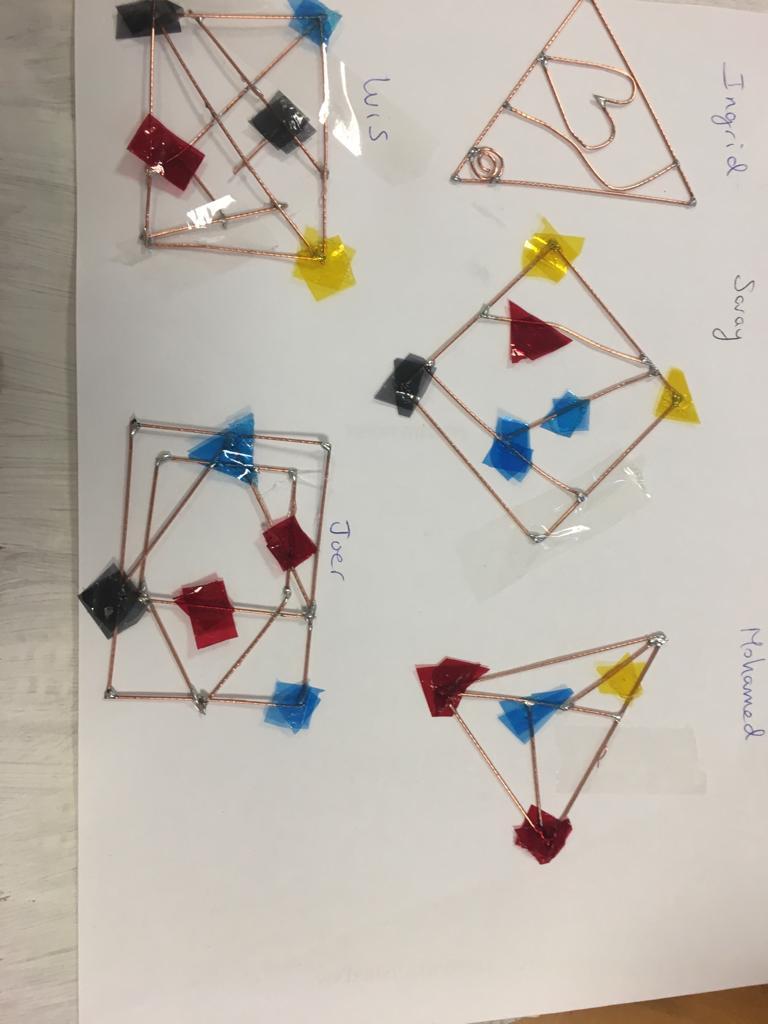 Trabajando los móviles de Alexander Calder. @IESArcipreste #escuelasquecambianelmundo #trabajoporproyectos #alexandercalder