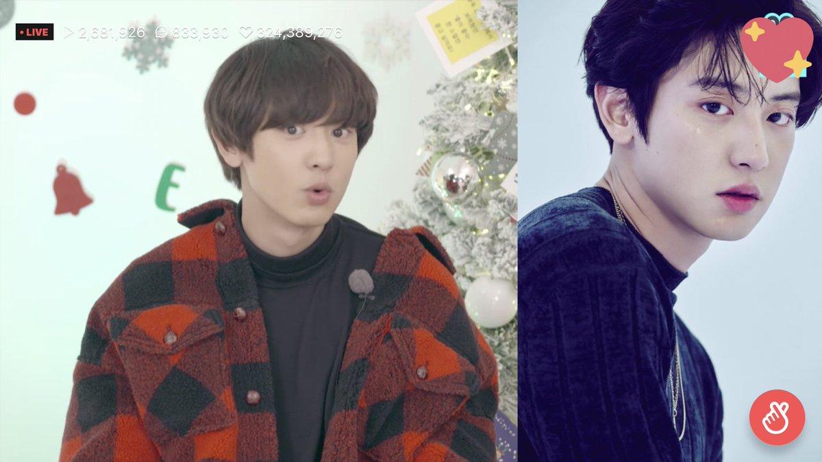 [] 12.12.18 EXO Midwinter Night - Chanyeol imitando sua foto teaser <br>http://pic.twitter.com/0yb9xTK8Yl