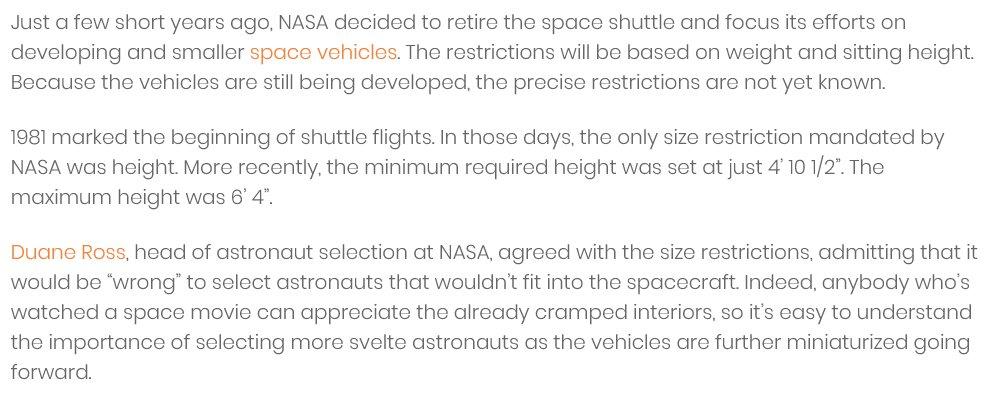 60e20f4cb https   astronaut.com height-restrictions-astronauts   …pic.twitter.com OwISXWwzro