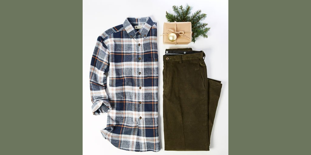 Plaid + Corduroy is the perfect combination for all of your holiday plans