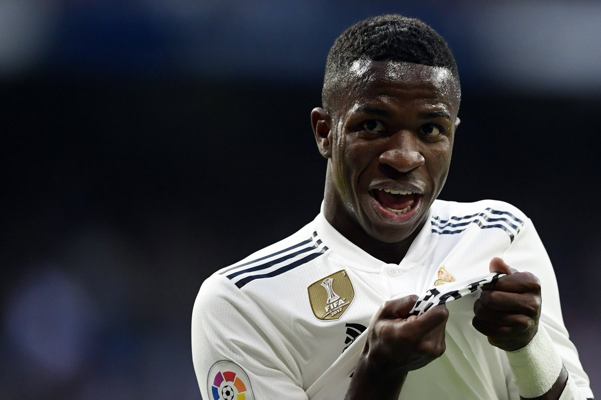 Vinícius Júnior is the youngest non-Spanish player ever to start a Champions League game for Real Madrid.  Just 18 years and 152 days old. 🇧🇷