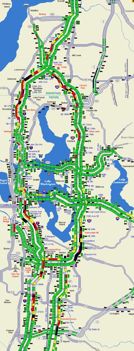 Wsdot Traffic On Twitter The Current Traffic Map Is Painting A