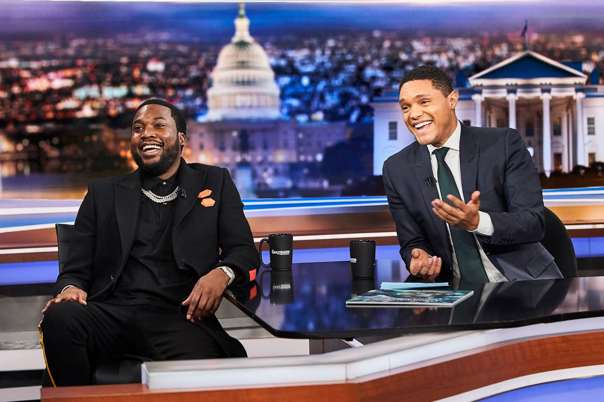 Watch @MeekMill's conversation with @Trevornoah on @TheDailyShow last night: https://t.co/2i1KYTxd5T  https://t.co/aUFEgJeNxS