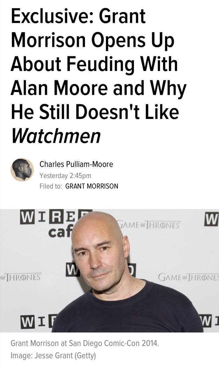 watchmen is a wildly overrated comic. morrison been knew.