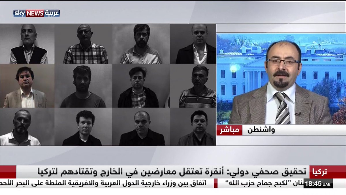 I was on @skynewsarabia discussing Erdogan regime's Kidnaping and torture prisons. Of course I mentioned his treatment of journalists too <br>http://pic.twitter.com/qy29ZaK1GV