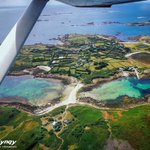 #day12, The Isles of Scilly has five islands that some people call home, each island has its own characteristics and history. St Mary's is the central hub which the airport is situated on, the Islands are home to over 35 gorgeous beaches. #islesofscilly #flying #bluesky #Cessna