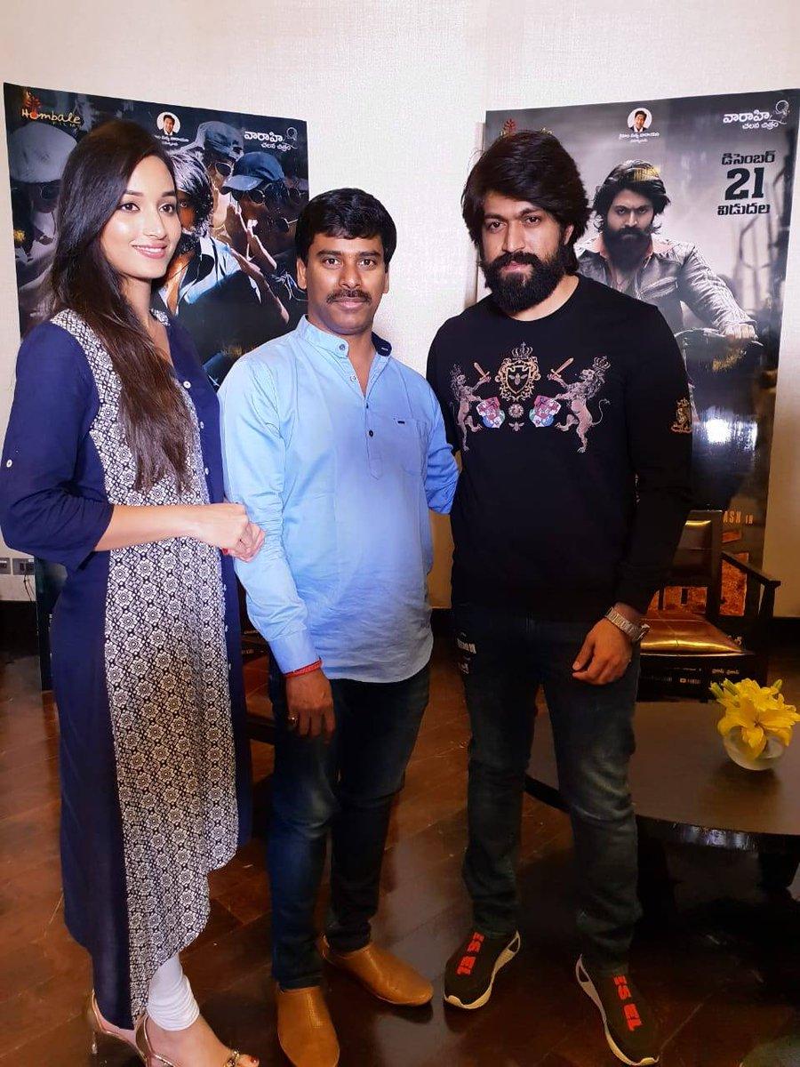 Suresh Kondeti On Twitter Pic With Kgf Movie Hero Yash And Heroine