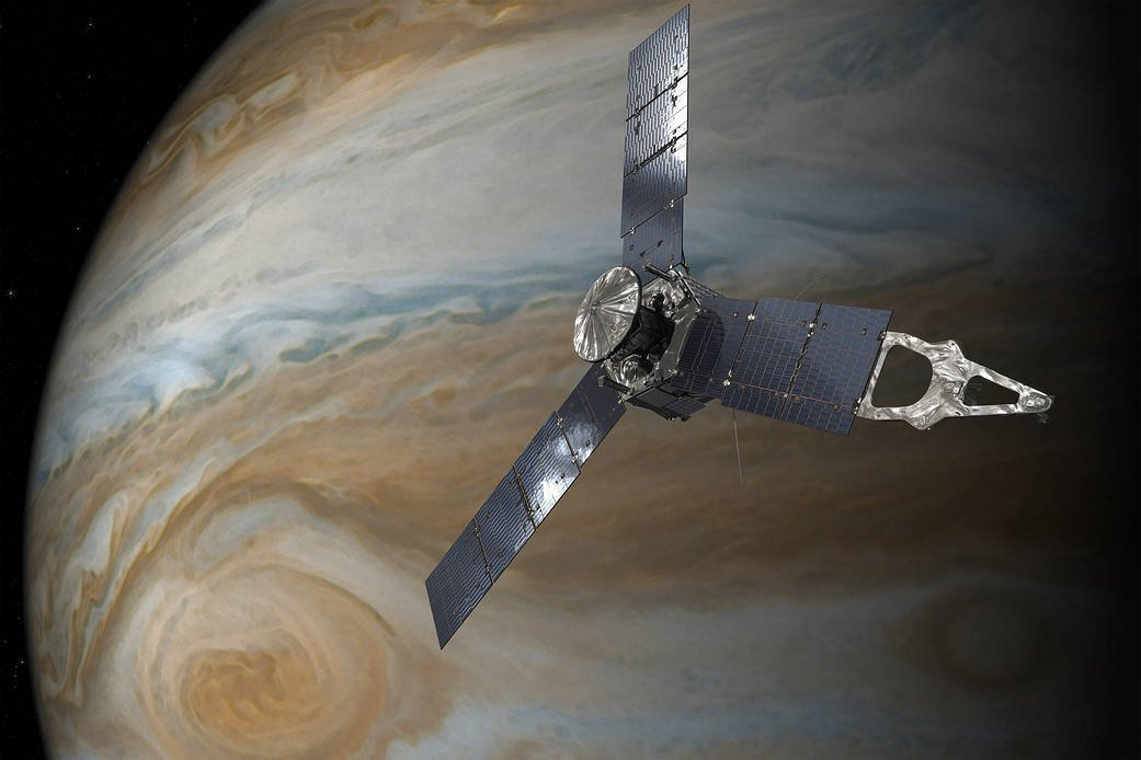 Science news alert! Join my team live from #AGU18 as they discuss discoveries at #Jupiter.   Wednesday, Dec. 12 at 8am PT (11am ET, 1600 UTC):  https://t.co/9dPnHBoKUu