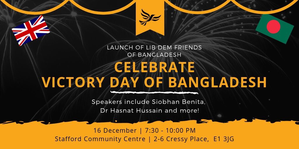 Hello fellow @LibDems!    Please give @LD_Bangladesh a follow. We will be having a soft launch event this Sunday, and we hope this organisation will connect the @LibDems with the Bangladeshi community, a community that contributes so much to a diverse Britain.  #Together <br>http://pic.twitter.com/NazL6kNmy4