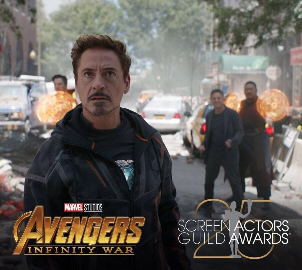"""Congratulations to Marvel Studios' """"Avengers: #InfinityWar"""" which has been nominated for Outstanding Action Performance by a Stunt Ensemble in a Motion Picture by the #SAGAwards!"""