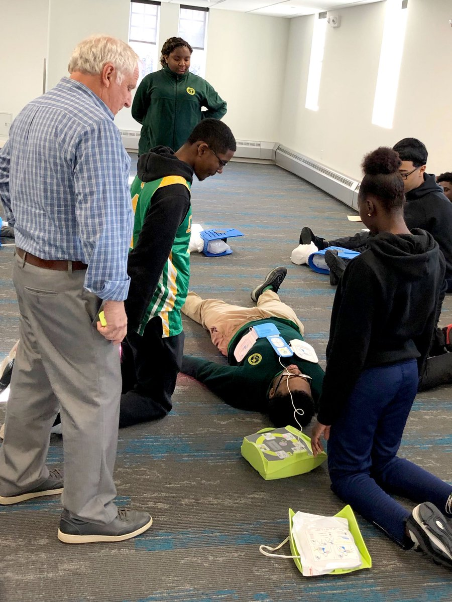 test Twitter Media - Students in our STEAM-based elective Anatomy & Physiology with Dr. Su Gangopadhyay received certification in CPR and using an AED yesterday in our new Applied Learning Center.  #FullSTEAMAhead | #RCABSchools | #STEAM https://t.co/42KDwWFOBB