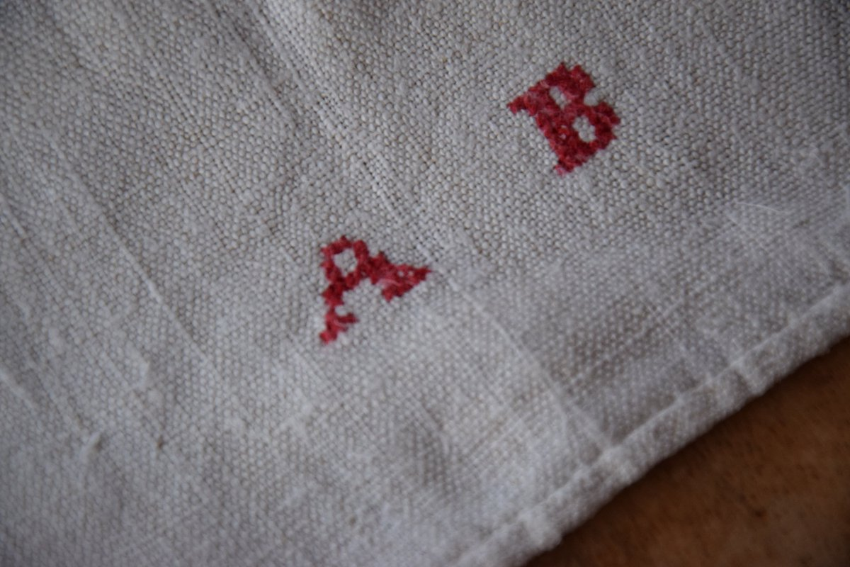 Brauerantique On Twitter Antique Rustic French Tablecloth
